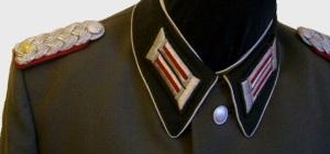 NVA Uniform Major schwarzer Kragen